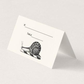 Vintages Platzkarte-Eskorte-Karten-Elfenbein der Platzkarte