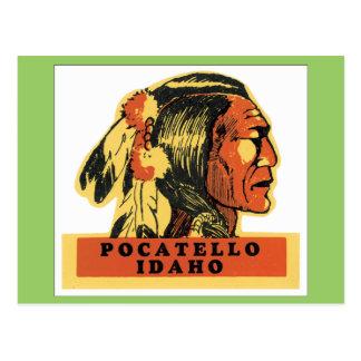 Vintages Pocatello Idaho Postkarte