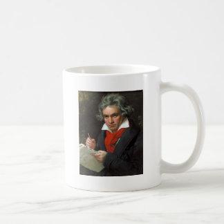 Vintages Porträt des Komponisten, Ludwig von Kaffeetasse
