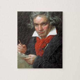 Vintages Porträt des Komponisten, Ludwig von Puzzle