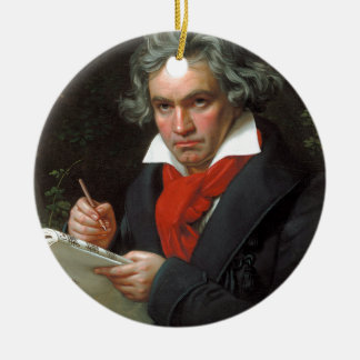 Vintages Porträt des Komponisten, Ludwig von Rundes Keramik Ornament