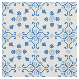 Vintages Portugiese Azulejo Fliesen-Muster Stoff