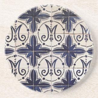 Vintages portugiesisches azulejo getränke untersetzer