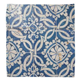 Vintages portugiesisches azulejo halstuch