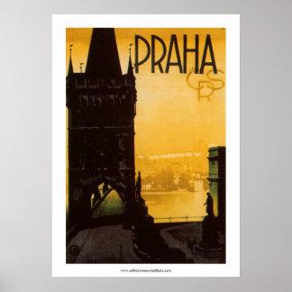 Vintages Prag-Plakat Poster