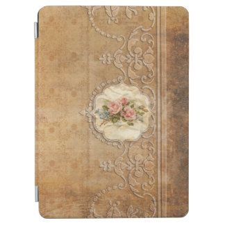 Vintages prägeartiges Gold Scrollwork und Rosen iPad Air Hülle