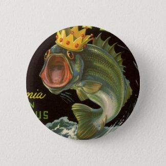 Vintages Produkt kann Kunst, Königsfisch-Spargel Runder Button 5,1 Cm