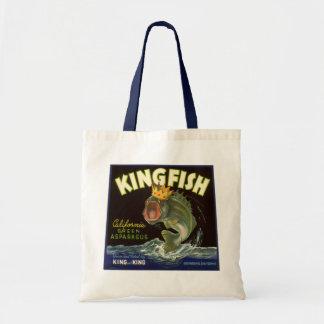 Vintages Produkt kann Kunst, Königsfisch-Spargel Tragetasche