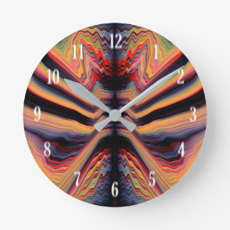 Vintages psychedelisches Muster Runde Wanduhr
