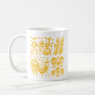 Vintages Pyrex Muster - Butterprint Orange Kaffeetasse