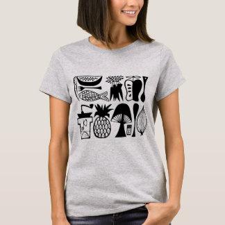 Vintages Pyrex Muster - Mod-Küche (Schwarzes) T-Shirt