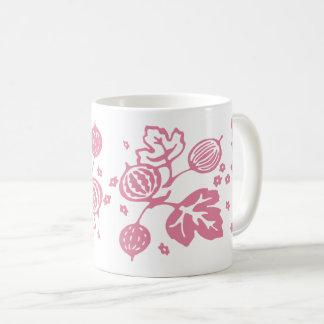 Vintages Pyrex Muster - Stachelbeerrosa Kaffeetasse