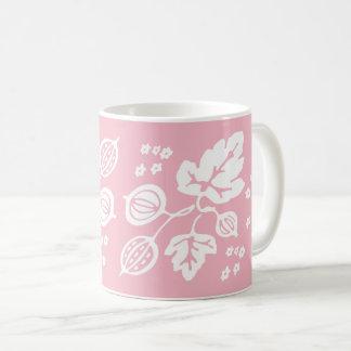 Vintages Pyrex Muster - Stachelbeerweiß Kaffeetasse