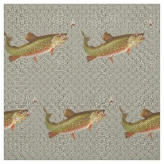 Vintages Regenbogenforelle-Fliegenfischen Stoff