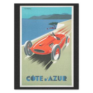Vintages Reise-Cote d'Azur Frankreich rotes Seidenpapier