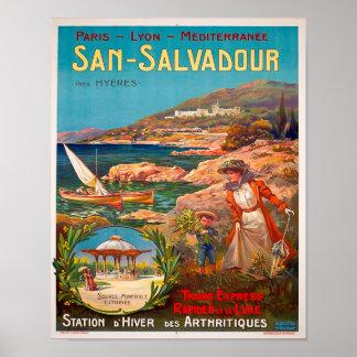 Vintages Reise-Plakat 1900 Sans Salvadour Poster