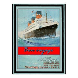 Vintages Reise-Plakat 58 Postkarte