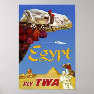 Vintages Reise-Plakat Ägypten Poster