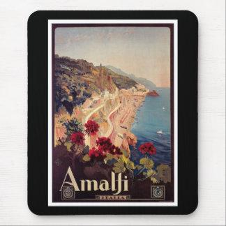 Vintages Reise-Plakat Amalfis, Italien Mousepads