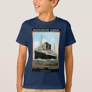 Vintages Reise-Plakat: Anker-Linie T-Shirt