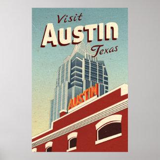 Vintages Reise-Plakat Austins Texas Poster