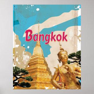 Vintages Reise-Plakat Bangkoks Poster