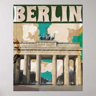Vintages Reise-Plakat Berlins Poster