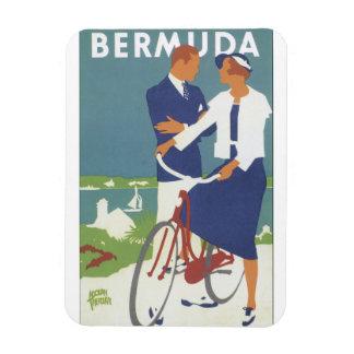 Vintages Reise-Plakat Bermudas Rechteckiger Fotomagnet