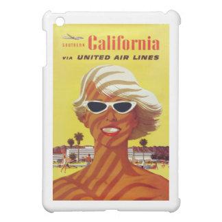 Vintages Reise-Plakat Besuchs-Kaliforniens iPad Mini Hülle