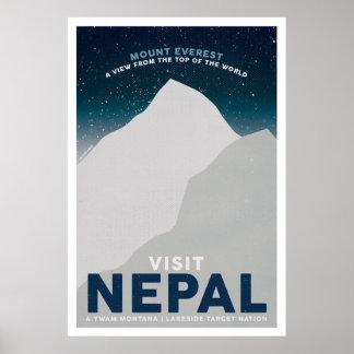 Vintages Reise-Plakat Besuchs-Nepals der Mount Poster