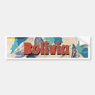 Vintages Reise-Plakat Boliviens Autoaufkleber