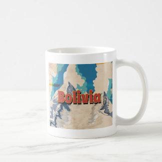 Vintages Reise-Plakat Boliviens Kaffeetasse