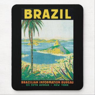 Vintages Reise-Plakat Brasiliens Mauspad