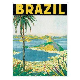 Vintages Reise-Plakat Brasiliens Postkarte