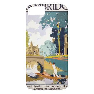 Vintages Reise-Plakat Cambridges wieder iPhone 8/7 Hülle