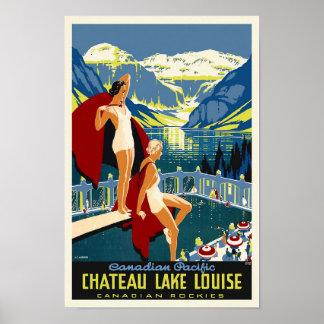 Vintages Reise-Plakat Chateau-Lake Louise Banff Poster