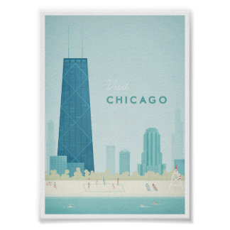 Vintages Reise-Plakat Chicagos Poster