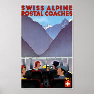 Vintages Reise-Plakat der Schweiz wieder Poster