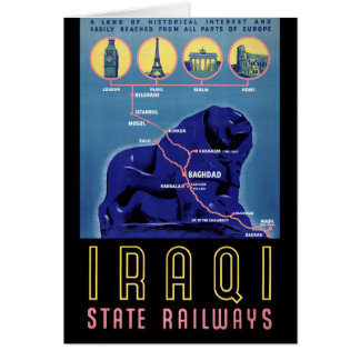 Vintages Reise-Plakat des Iraks wieder hergestellt Karte