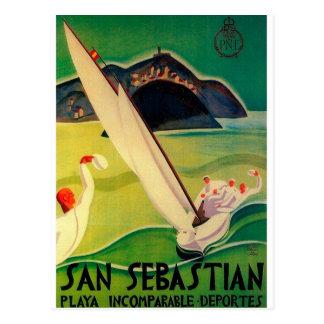 Vintages Reise-Plakat Donostia San Sebastián Postkarte