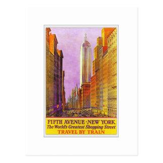 Vintages Reise-Plakat Fifth- Avenuenew york Postkarte