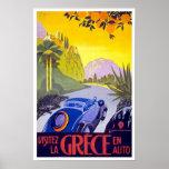 Vintages Reise-Plakat Griechenland