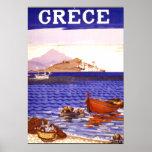 Vintages Reise-Plakat Griechenlands