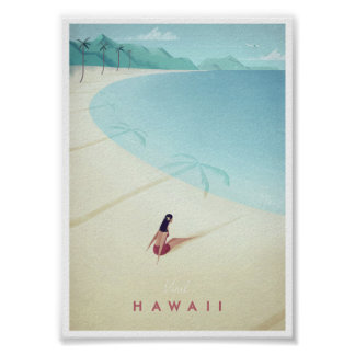 Vintages Reise-Plakat Hawaiis Poster