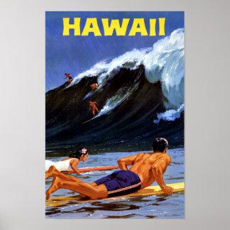 Vintages Reise-Plakat Hawaiis wieder hergestellt Poster