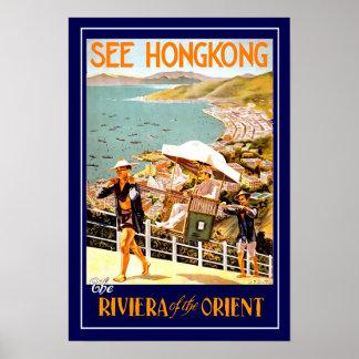 Vintages Reise-Plakat Hong Kong Poster