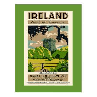Vintages Reise-Plakat-Irland-Geschwätz-Schloss Postkarte