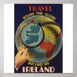 Vintages Reise-Plakat Irlands