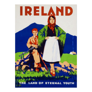 Vintages Reise-Plakat Irlands Poster