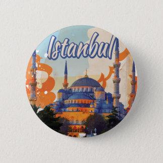 Vintages Reise-Plakat Istanbuls Runder Button 5,7 Cm